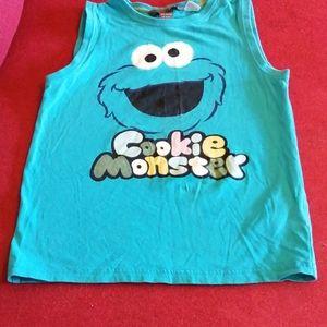 Euc cookie monster tank top
